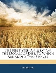 the first step an essay on the morals of diet to which are added  9709288