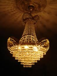 large vintage chandelier in a distinct design with a total of 1865 glass stones