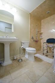 wheelchair accessible bathroom design. Awesome Handicap Accessible Bathroom Designs At Wheelchair Design With Pink Earth