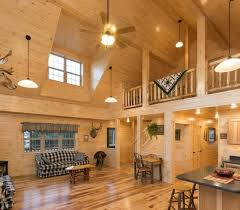 log cabin lighting ideas. cabin with loft and full kitchen log lighting ideas n