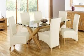 oak and glass dining table sevenstonesinc com