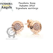 pandora rose gold earrings
