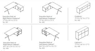 office desk sizes. office desk dimensions jesper 400 collection with return cabinet sizes e
