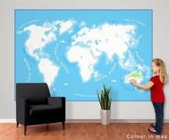 Wereldkaart Voor Kinderen Fotobehang Behang Bestel Nu Op