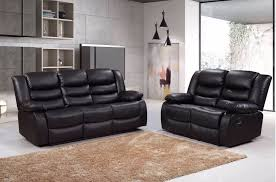 2 seater faux leather recliner sofa set