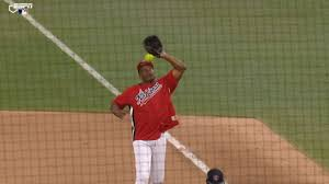 a popup hit hall of famer andre dawson in the head in the celebrity softball game