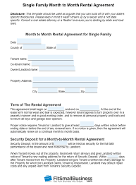 month to month al agreement template