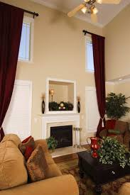 Two Story Living Room Curtains Emcoss Window Blinds Drapery