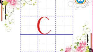 Hướng dẫn viết chữ c (cỡ nhỏ) - |Kiến thức Tiểu học