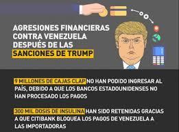 Resultado de imagen para medidas financieras de eeuu contra venezuela