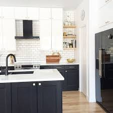 kitchen design white cabinets black appliances.  White Modern Kitchen Black And White Kitchen Design Appliances  Shelves Range Hood Brass Knobs Ikea  For Kitchen Design White Cabinets Black Appliances Pinterest