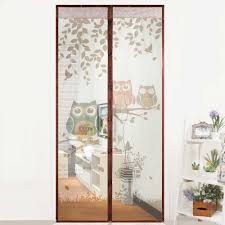 2018 new cute cartoon owl pattern magnet mosquito net magnetic anti mosquito curtains door curtains prevent