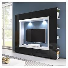 white or black furniture. TV WALL UNIT NOVEL WHITE OR BLACK GLOSSY FRONTS White Or Black Furniture W
