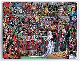 Hình nền : Cắt dán, truyên tranh Marvel, Đội trưởng Mỹ, The Avengers, người  nhện, Truyện tranh, Deadpool, kết hôn, Fantastic Four, Cô ấy nặng, Domino,  Shiklah, Người theo dõi, NGHỆ THUẬT,