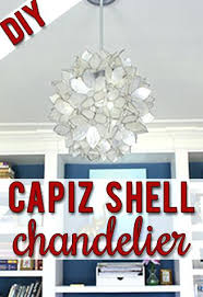 diy faux capiz shell chandelier make your own shell chandelier just like the expensive designer versions