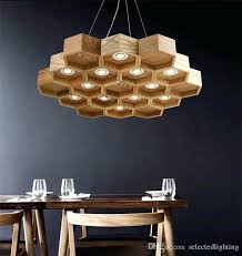 wood pendant light loft lamp honeycomb chandeliers antique wooden founded on solid bar coffee small wood pendant light