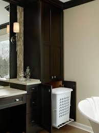 Bathroom Cabinet Tower Hamper Hideaway In Custom Bathroom Cabinet Hgtv Bathroom Cabinet