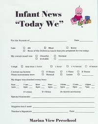 baby daily report sheet best photos of baby daily report sheet day care infant daily