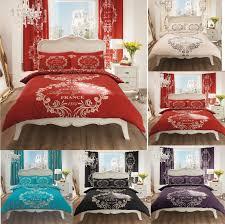 script paris modern duvet cover fl bedding set single double king super king
