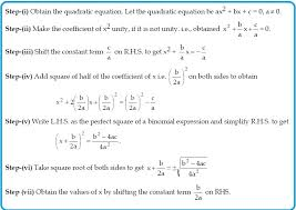 10th quadratic equations solving by completing the square