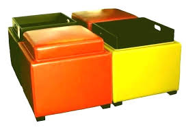 tray storage ottoman cocktail ottoman tray storage reversible with leather t
