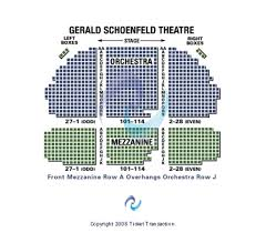 Gerald Schoenfeld Theatre Seating Chart Gerald Schoenfeld Theatre Tickets In New York Seating