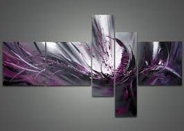 purple abstract canvas painting fabu art