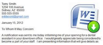 dental assistant cover letter dental assistant cover letter templates