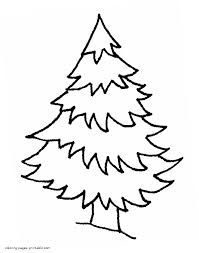 Small Picture Spruce in the winter forest coloring page