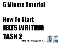 how to start ielts writing task minute tutorial
