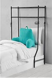 headboard storage rack. Dorm Space Saver Over The Bed Storage Rack With Headboard