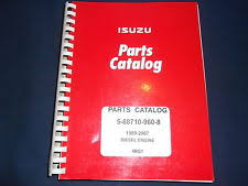 heavy equipment parts accessories for isuzu isuzu 4bg1 diesel engine parts book manual 5 88710 960 8