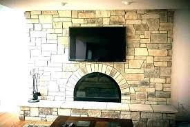 stacked brick fireplace how stacked stone on brick fireplace