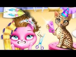 fun s care makeover learn colors kids games for s cat hair salon makeup game for kids
