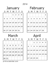 Simple Calendar Template 2015 2014 12 Month Printable Calendar 2014 12 Month Printable