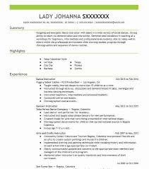 Dance Instructor Resume Adorable Dance Instructor Resume Sample Instructor Resumes LiveCareer