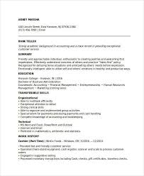 Resumes For Banking Jobs Banking Resume Samples 45 Free Word Pdf Documents Download For Bank