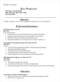 Accounts Resume Format Accounting Resume Example By John Smith