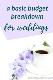Basic Wedding Budget Breakdown Planning With Poise