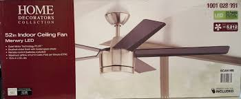57 57 home decorators collection merwry 52 in led indoor brushed nickel ceiling fan home