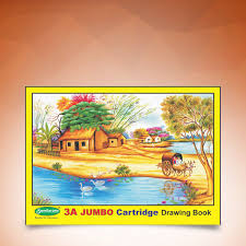 3a jumbo yellow 36 pages drawing book d 4