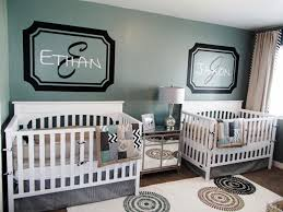 Two Brothers Baby Boy Nursery Ideas Twin Design Modern Green White Crib  Unique Rug With Circular Pattern Awesome