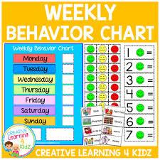 Classroom Behavior Chart Autism Worksheets Teaching