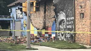 destroyed George Floyd mural in Toledo