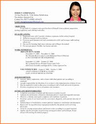 High School Student Resume With No Work Experience Unique Example A
