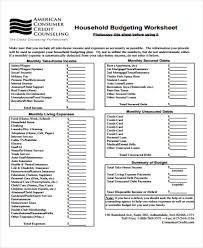15 Household Budget Spreadsheet Schedule Template