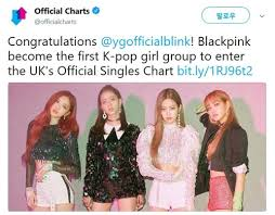Blackpink Becomes First K Pop Female Act To Hit U K Singles