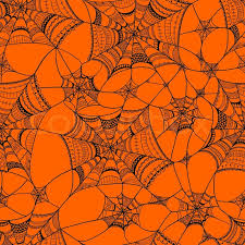 Spider Web Pattern Simple Vector Seamless Pattern With Spider Web On Orange Black Seamless