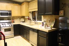image of painting kitchen cupboard