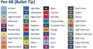 Stabilo 68 Colour Chart Sharpie Colors Colours Chart